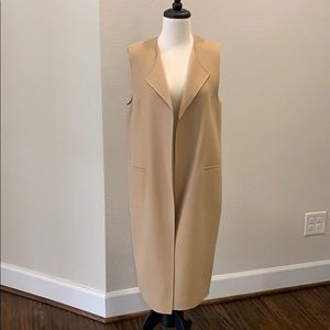 New! ZARA Camel Duster Vest